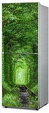 RAIN QUEEN Kühlschrank Kleiderschrank Geschirrspüler Aufkleber Dekor Folie Klebefolie Front Sticker Blumen Landschaft (D#)