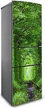 RAIN QUEEN Kühlschrank Kleiderschrank Geschirrspüler Aufkleber Bild Dekor Folie Klebefolie Front Sticker Blumen Landschaft (180cm, D#)