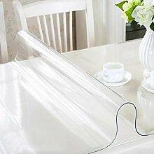 RAIN QUEEN Tischdecke PVC Tischschutz Spitze Schutzfolie Tischfolie (80*140cm, transparent)