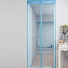 RAIN QUEEN Tür Mückenschutz Insektenschutz-Magnetvorhang für Türen Fliegenschutz Magischer Magnet Türvorhang Türschutz Schutznetz (90*210 cm, blau)