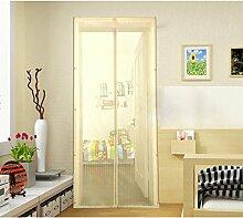 RAIN QUEEN Tür Mückenschutz Insektenschutz-Magnetvorhang für Türen Fliegenschutz Magischer Magnet Türvorhang Türschutz Schutznetz (90*210, beige)