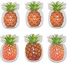 rainbabe 50Holzknöpfen Ananas Basteln für