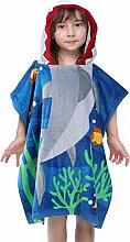 RainBabe Badetuch Kinder Badeponcho mit Kapuzen
