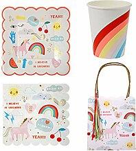 Rainbow Einhorn Party Ware Bundle Papier Teller