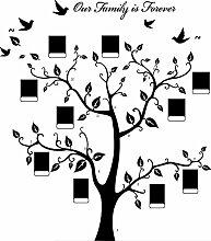 Rainbow Fox Bilderrahmen Baum Zweig Wandaufkleber Zweige und Soaring Vogel Kunst Weihnachtsdekoration Wand Aufkleber und Abziehbilder für Wohnzimmer (Christmas tree)