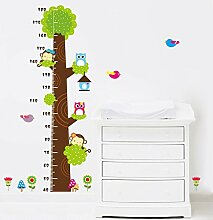 Rainbow Fox Kinder Höhe Diagramm messen Aufkleber Tier Zoo Wandaufkleber (#3)