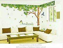 Rainbow Fox Wandaufkleber groß, Rosa Sakura-Kirschblütenbaum, Wandaufkleber Aufkleber PVC Abnehmbarer Wandaufkleber für Kinderzimmer, für Mädchen und Jungen, für Kinderzimmer XY1098
