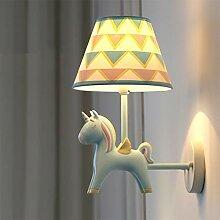 Rainbow horse wall lamp Indoor einfache süße