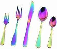Rainbow Silverware Besteck-Set, Edelstahl,