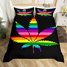 Rainbow Weed Tröster-Bezug, buntes