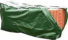 Rainexo Schutzhülle hochreißfest für 4 Hochlehner Auflagen, 1.30 x 0.35 x 0.60 m