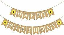 Rainlemon Jute Jute Sackleine Happy Birthday