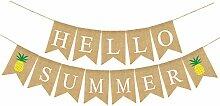 Rainlemon Jute Jute Sackleine Hello Summer Banner