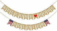 Rainlemon Jute Sackleine Welcome Home Soldier
