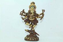 Rajasthan Gems Messing Metall Gott Ganesha Figur,