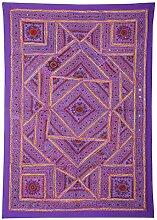 Rajrang Antik Wandbehang Handarbeit , Lila, Wandbehang, Wanddeko Dekoration