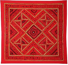 Rajrang Antik Wandbehang Handarbeit rot Wandbehang, Wanddeko Dekoration