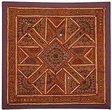 Rajrang Baumwolle Braun - im dischen Stil - Wandbehang, Wanddeko Wandbehang Dekoration