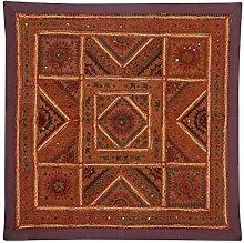 Rajrang Baumwolle Braun Wandbehang, Wanddeko Wandbehang Dekoration