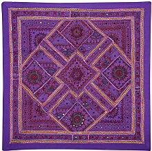 Rajrang Baumwolle , Lila, Wandbehang, Wanddeko Wandbehang Dekoration