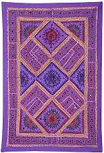 Rajrang Dekoration Baumwolle , Lila, Wandbehang, Wanddeko Wandbehang fürs Esszimmer