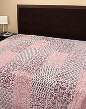 RAJRANG Dekoration Handarbeit Tagesdecke Baumwolle