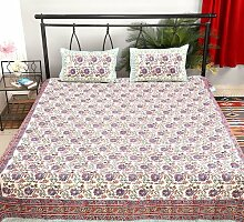 Rajrang Dekoration - mit Druckmuster - Bettlaken Baumwolle Floral Doppelzimmer Bettlaken
