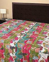 Rajrang Dekoration - mit Druckmuster - Tagesdecke Baumwolle Multi-Farbe Fruit Doppelzimmer Bettlaken