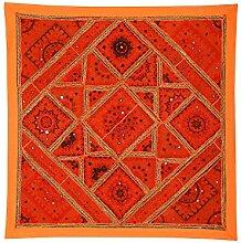 Rajrang Dekoration Wandbehang Handarbeit Orange Wandbehang, Wanddeko fürs Esszimmer