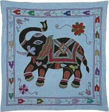 Rajrang Designer Wandbehang Bestickt Baumwolle schwarz Wandbehang, Wanddeko Dekoration