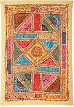 Rajrang Designer Wandbehang Handarbeit Baumwolle Olive Grün Wandbehang, Wanddeko Dekoration