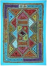 RAJRANG Designer Wandbehang Handarbeit Baumwolle