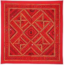 Rajrang Handgemachte Wandbehang Handarbeit rot Wandbehang, Wanddeko Dekoration