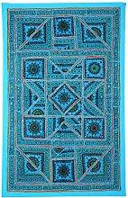 Rajrang Handgemachte Wandbehang Handarbeit Turquoise Wandbehang, Wanddeko Dekoration