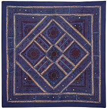 Rajrang Onle Wandbehang Baumwolle Navy blau Wandbehang, Wanddeko Dekoration