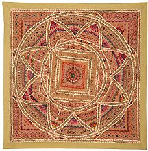 RAJRANG Onle Wandbehang Baumwolle Olive Grün Wandbehang, Wanddeko Dekoration
