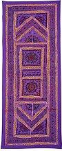 Rajrang Onle Wandbehang Handarbeit , Lila, Wandbehang, Wanddeko Dekoration