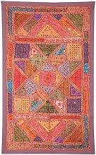 Rajrang Wandbehang Baumwolle Braun Wandbehang, Wanddeko Dekoration