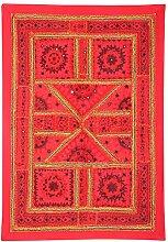 Rajrang Wandbehang Handarbeit Baumwolle Wandbehang, Wanddeko Dekoration