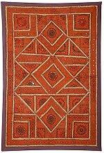Rajrang Wandbehang Handarbeit Braun Wandbehang, Wanddeko Dekoration
