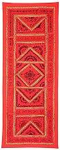 Rajrang Wandbehang Handarbeit rot Wandbehang, Wanddeko Dekoration