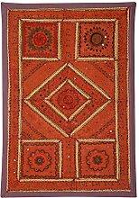 Rajrang Wandbehang Wandbehang, Wanddeko Handarbeit Baumwolle Braun Dekoration