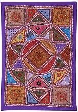 RAJRANG Wandbehang, Wanddeko Handarbeit Baumwolle,