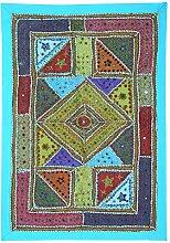 RAJRANG Wandbehang, Wanddeko Handarbeit Baumwolle