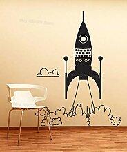 Rakete Raumschiff entfernen Wandkunst Aufkleber