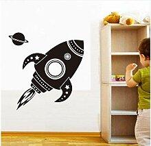 Rakete Wandkunst Aufkleber Kinder Dekoration