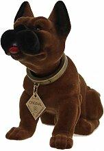 RAKSO Wackelkopfhund Boxer Puli Hund Figur 18 cm