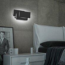 Ralbay 12W LED Wandleuchte Wandlampe Flurlampe mit Aluminum Würfel Gehäuse Up und Down Design warmweiß 4000K