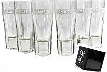RAMAZZOTTI Gläser 6er Set mit Eichung bei 2 & 4cl