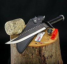 Rambo Deluxe Messer II mit Ledertasche und Gürtel